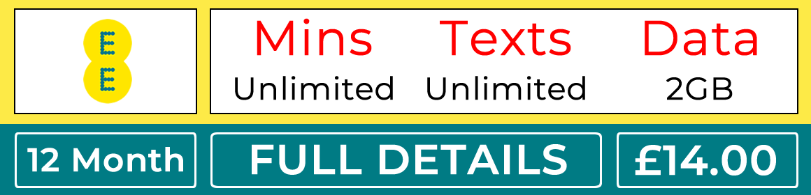 EE sim with unlimited minutes, unlimited texts and 2gb data